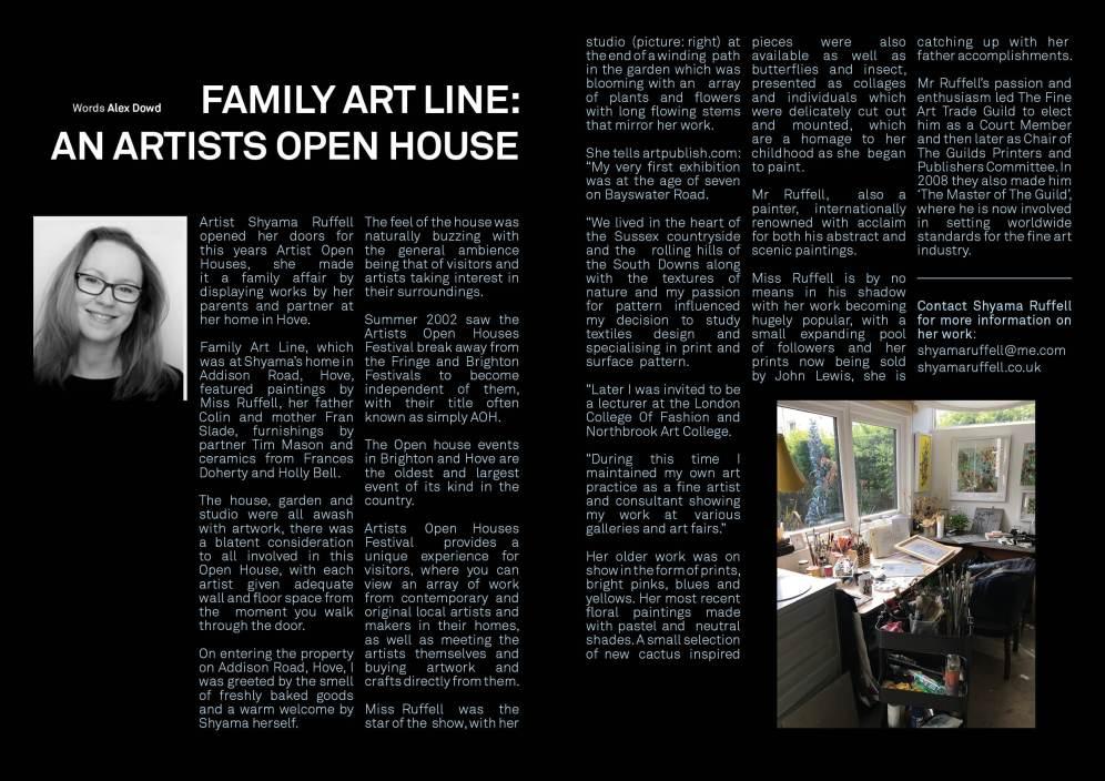 Shyama Ruffell art line layout